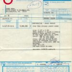 Topps Star Trek 1976 paperwork #3