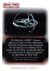 Quotable Star Trek DS9 Action Figure PROMO Card DST07 Niet-sportkaarten Star Trek