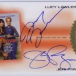 Jeri Ryan/Lucy Lawless Dual autograph card