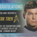 50th Anniversary DeForest Kelley Redemption Card